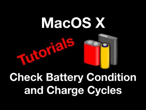 Find How Many Charge Cycles and Check Battery Condition - Mac OS X