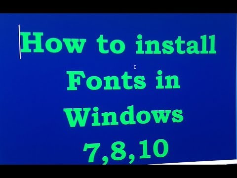 How to Install Fonts on  Computer ( Sai Computer)