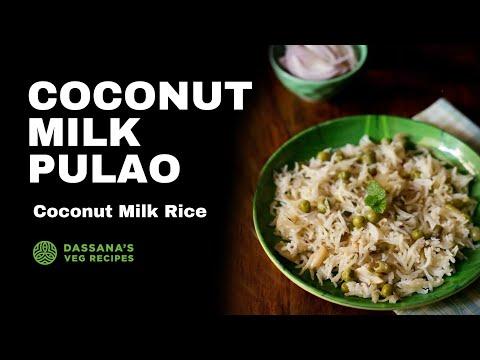 coconut milk pulao recipe - how to make veg pulao with coconut milk