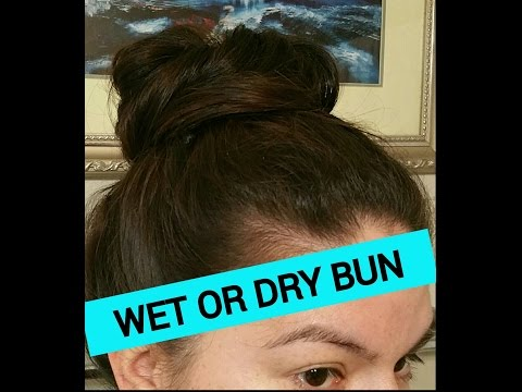 Wet or dry no time bun hairstyle