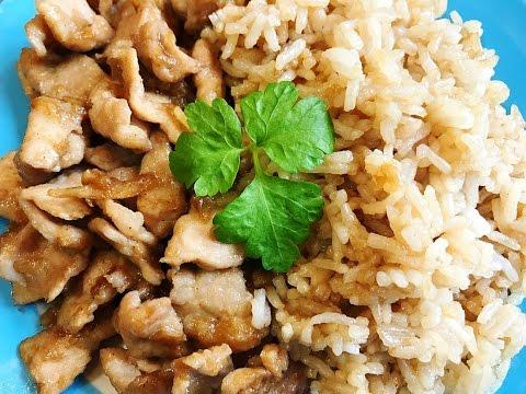 Pork Stir Fry with Garlic , Fried Rice with Dark Soy Sauce : ข้าวหมูกระเทียม
