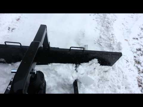 Atv pull plow with down pressure