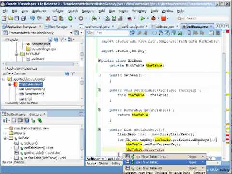 ADF Training   Performing Multiple Row Selection with Oracle ADF Tables