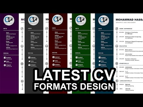 Latest Dark Colour CV Formats, Doc Files, New resume format 2016 download in docx