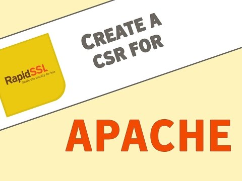 Generate a CSR for Apache Servers