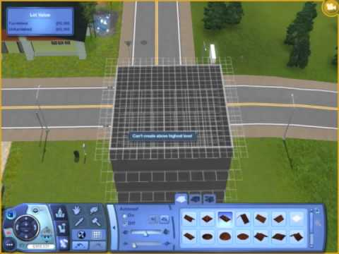 How to build a rectangular 8 level house (skyscraper) in The Sims 3