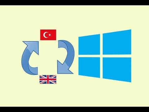 Windows 10 Single language nin dilini değiştirelim