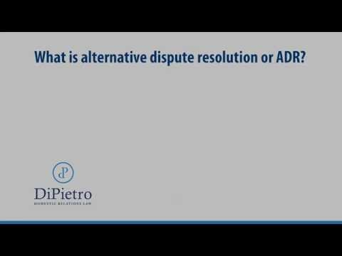 What is alternative dispute resolution or ADR? | Family Law | Virginia | Washington DC