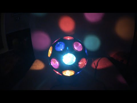 Spinning Disco Ball (Unboxing & Light Show)