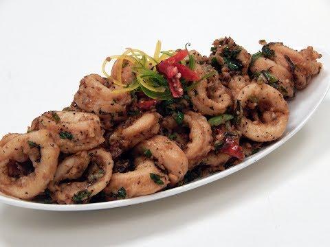 Spicy Stir Fried Squids | Sanjeev Kapoor Khazana