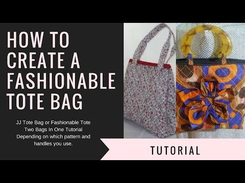 How To Create A Fashionable Tote Bag | DIY | Two Bags In One