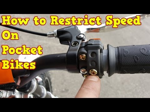 How to Restrict Speed on Pocket Bike - 50cc, 49cc Mini Dirt Bike & Mini Motos