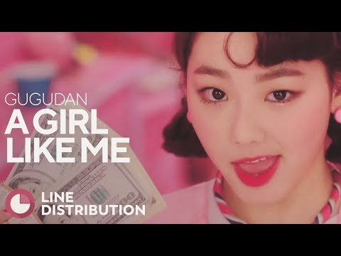GUGUDAN - A Girl Like Me (Line Distribution)