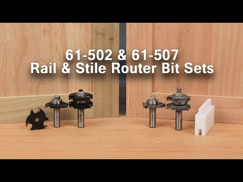 Make Mission-Style and Shaker-Style Cabinet Doors with Tongue and Groove Router Bit Sets