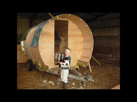 Bow top gypsy caravan towable diy build