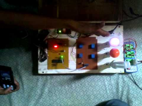 Home Appliances control using mobile phone