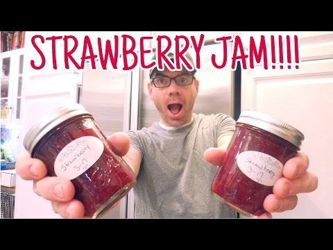 Homemade Strawberry Jam Without PECTIN Video- Easy DIY Strawberry Jam Recipe