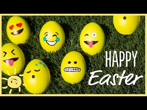 DIY | Emoji, Galaxy & Marble Easter Eggs!