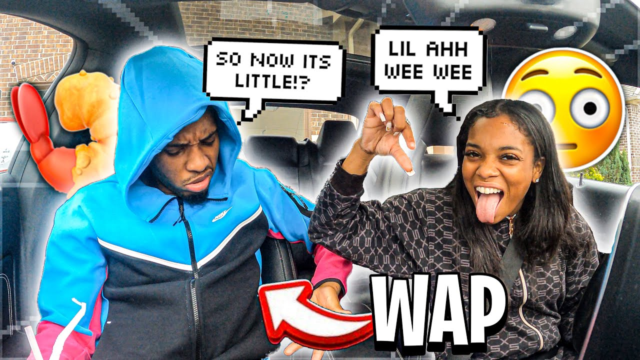 """TELLING MY BOYFRIEND HE HAS A """"WAP"""" TO SEE HOW HE REACTS.."""