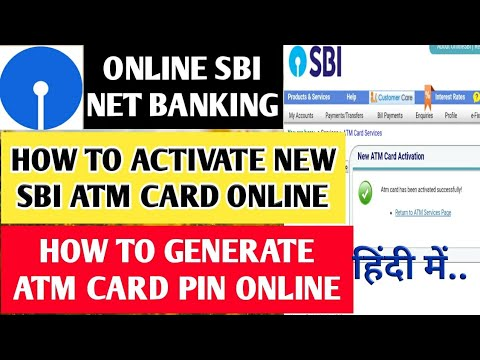 How to activate new sbi ATM card & generate ATM pin online. SBI debit card activation pin generation