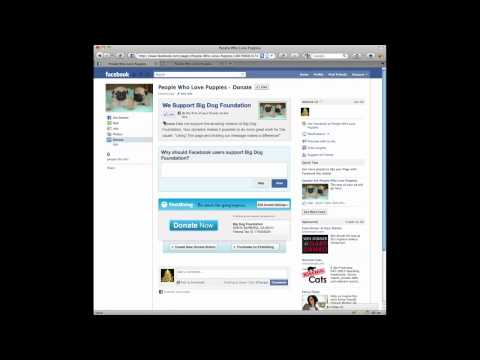 Install a Donate Button In Your Facebook Page