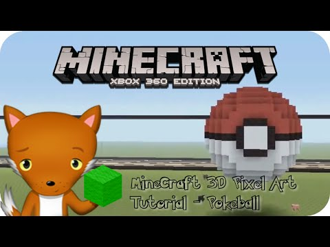 MineCraft 3D Pixel Art Tutorial - Pokeball