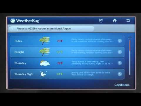 Wi-Fi Smart Fridge - How-To-Video - Navigating WeatherBug Application
