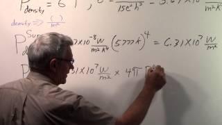 Solar Constant via Stefan Boltzmann Law