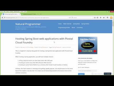 Hosting Spring Boot Web Applications Using HTTPS With Pivotal Cloud Foundry: Step By Step Tutorial