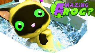 GIANT CAT FLUSHED DOWN THE MAGIC TOILET! - Amazing Frog - Part 137 | Pungence