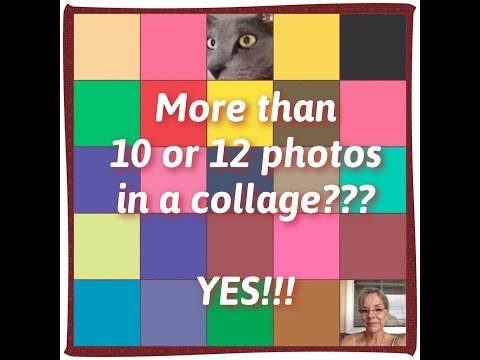 Add More Than 10 or 12 Photos to a Collage?  YES!!!