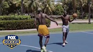 Paul Pogba and Romelu Lukaku hit the basketball court | FOX SOCCER