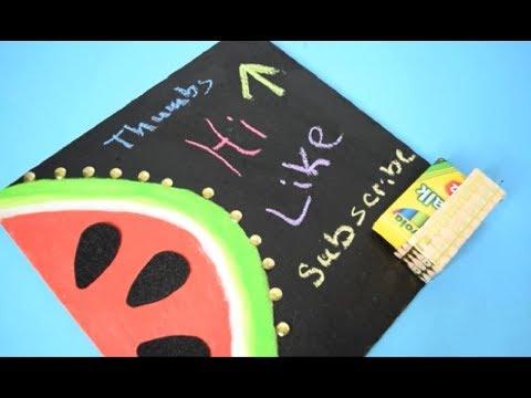 {DIY} Watermelon Chalkboard Cork Board 📌