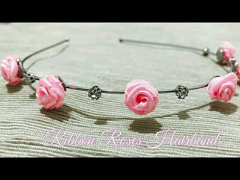 Hairband for kids and toddlers/Recycle old hairband with DIY ribbon flowers