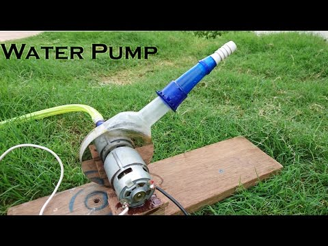 How to Make a Powerful Water Pump using Hard disk and bottle