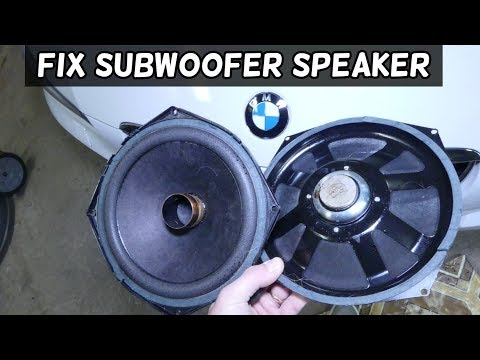 HOW TO FIX BMW SPEAKER SUBWOOFER