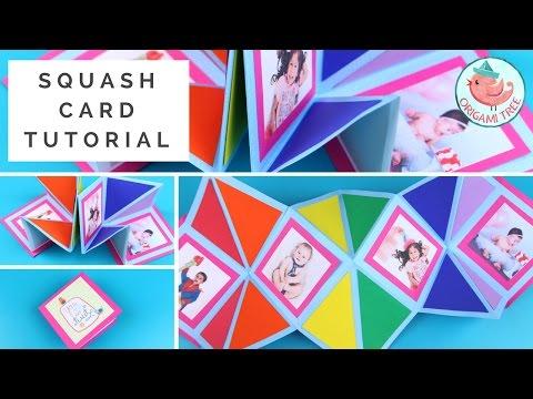 Paper Crafts - How to Make a Squash Card (Pop-Up Squash Book)