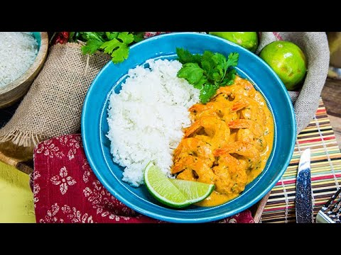 Jumbo Shrimp with Red Chile Salsa - Home & Family
