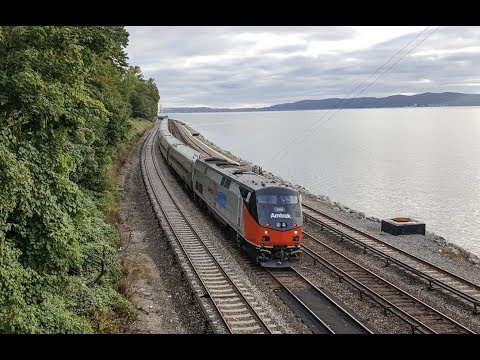 [HD] Amtrak Autumn Express At Scarborough