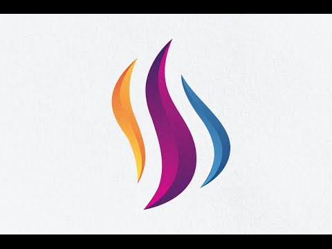 illustrator CS6 Tutorial - Create a 3D Logo Design in illustrator with gradient effect
