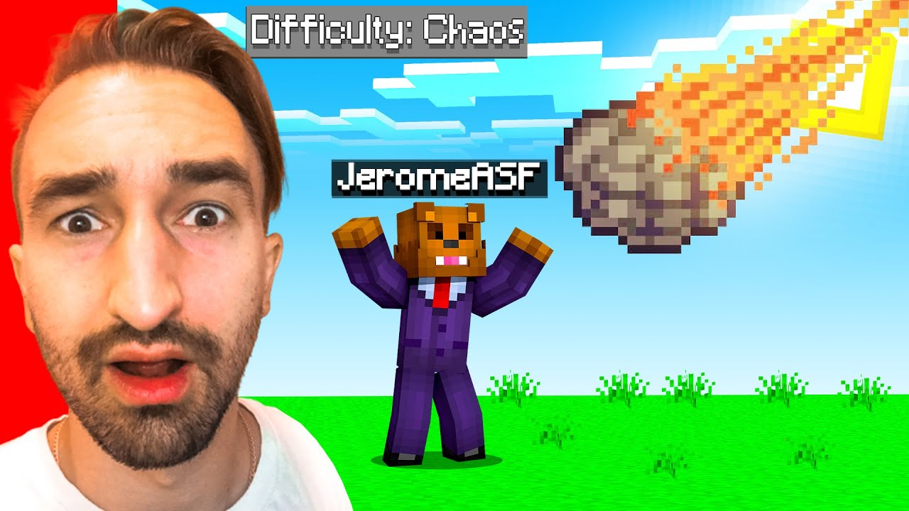 Minecraft, BUT There's Random Chaos EVERY Minute...