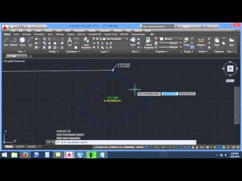Adding NORTHING and EASTING in AUTOCAD using LISP