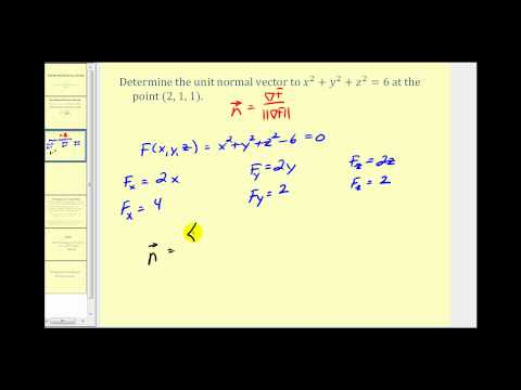Determining a Unit Normal Vector to a Surface