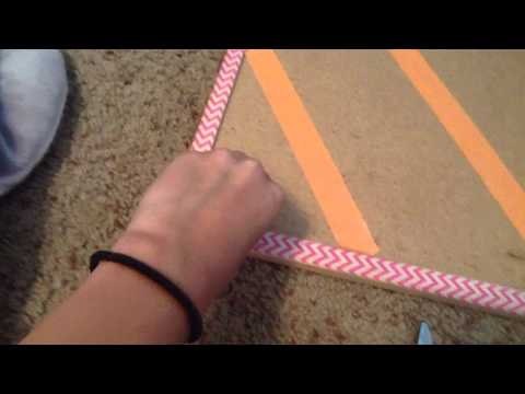 DIY cork board organizer