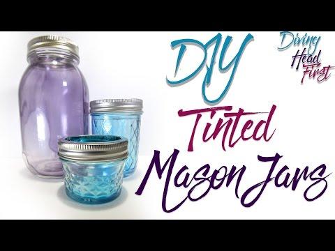 Tinted Mason Jars | DIY | Diving Head First