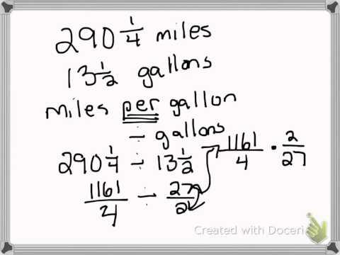 problem 2 miles per gallon
