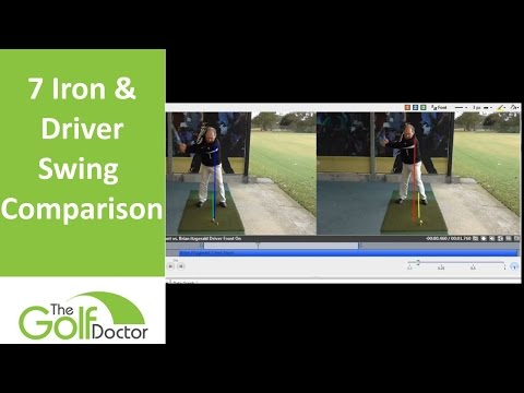 Comparing A 7 Iron Swing With A Driver Swing