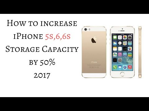 How to increase iPhone 5s,6,6s storage capacity 2017 | INCREASE STORAGE UPTO 50% [HINDI]