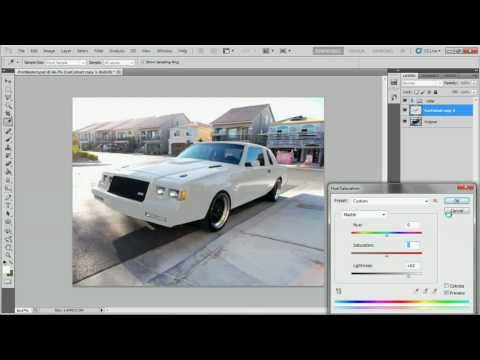 How to change a black car to white in adobe photoshop or gimp