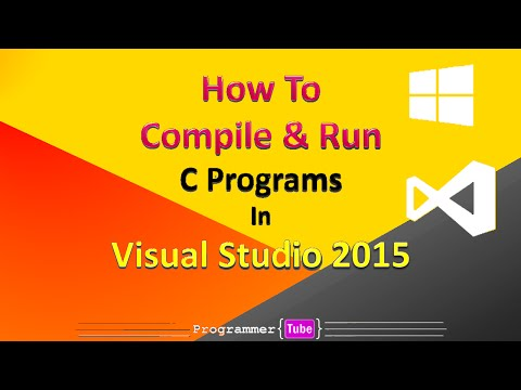 How To Compile & Run C Programs in Visual Studio 2015
